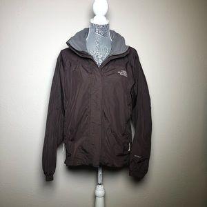 North Face Brown Rain Coat
